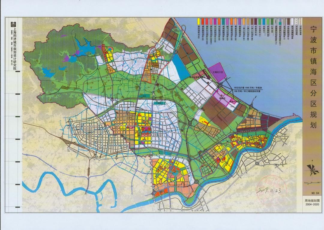 项目在镇海区的位置图